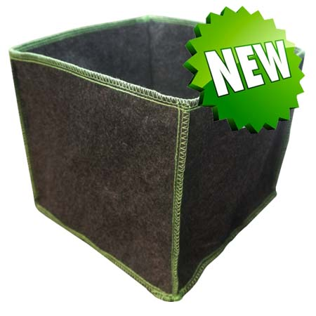 Square Fabric Pot 26.5L (twin pack)